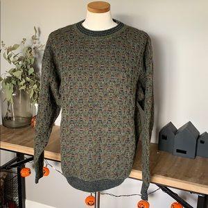 Pendleton LOBO wool Sweater Aztec Geometric XL